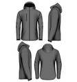men softshell jacket vector image vector image
