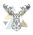 moose head geometric lines silhouette isolated on vector image vector image