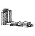 multi-storey building vector image