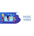music video concept banner header vector image vector image