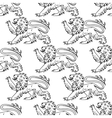 Outline heraldic lions seamless pattern vector image vector image