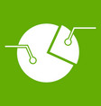 percentage diagram icon green vector image vector image