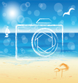 photo camera silhouette vector image vector image