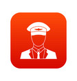 pilot icon digital red vector image vector image