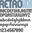 Retro triple line stripes font pattern old style vector image