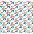 seamless pattern with brush wave swirl vector image