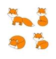 set cute little fox vector image vector image
