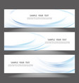 set of banner templates modern abstract design vector image vector image