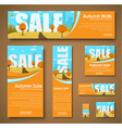 set web banners with autumn landscape for sale vector image vector image