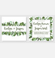 set wedding invitation cards invite a card vector image vector image