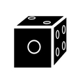 silhouette of dice vector image vector image