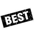 square grunge black best stamp vector image vector image