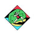 square icon sport gymnastics vintage vector image vector image
