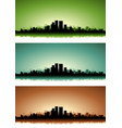 summer cityscape banner set vector image vector image