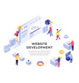 website development isometric vector image