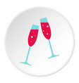 wedding glasses icon circle vector image vector image