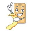 with menu wooden cutting board mascot cartoon vector image