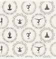 yoga seamless vector image