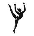 young gymnastic girl icon simple style vector image vector image