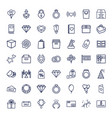 49 gift icons vector image vector image