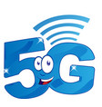 5g internet network character cartoon clip art vector image vector image