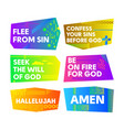 a set of bright colored christian banners vector image vector image