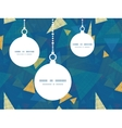 abstract fabric triangles Christmas ornaments vector image