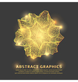 Abstract grid gold background vector image