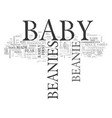 babybeanie text word cloud concept vector image vector image