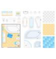 bathroom elements - set modern objects vector image