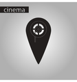 black and white style icon pointer cinema vector image vector image