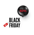 black balloon with discount offer black friday vector image