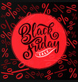 black friday sale hand drawn lettering vector image vector image
