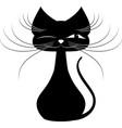 black kat vector image vector image