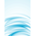 Blue smooth wavy backdrop vector image vector image