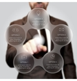 Businessman pressing button vector image