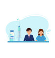 campaign vaccination young people vaccination vector image