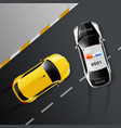 cars police custody composition vector image vector image