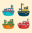cartoon ship vector image