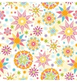 Colorful Christmas Stars Seamless Pattern vector image vector image