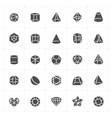 con set - geometric shapes icon vector image vector image