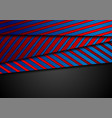 corporate abstract background with blue red vector image vector image