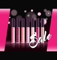 cosmetic product glosses make up vector image vector image