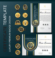 Creative certificate template with luxury and