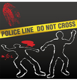 crime scene with police tape vector image