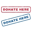 Donate Here Rubber Stamps vector image vector image