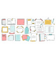 doodle paper sheet hand drawn sketch notebook vector image