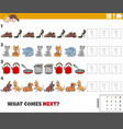 educational pattern game for kids with objects vector image vector image