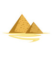 egyptian pyramids isolated construction egypt vector image