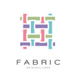 fabric original logo design creative sign for vector image